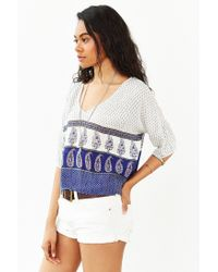 Band Of Gypsies - Purple Border Print Tee - Lyst