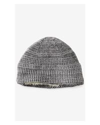 Express | Gray Textured Marl Sherpa Lined Beanie for Men | Lyst
