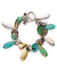 Robert Lee Morris - Multicolor Patina Charm Bracelet - Lyst