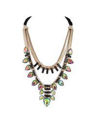 Ziba | Metallic Calanthia Statement Necklace | Lyst