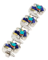Kenneth Cole | Blue Pop Art Mixed Geometric Stone Cluster Bracelet | Lyst