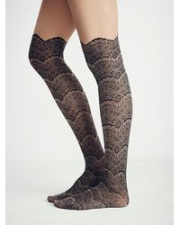 Free People - Black Lemons Womens Westend Lace Cuff Tight - Lyst
