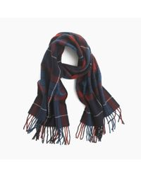 J.Crew - Red Mosaic Wool Scarf for Men - Lyst