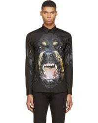 Givenchy - Black Rottweiler Print Shirt for Men - Lyst