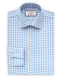 Thomas Pink - Blue Alder Check Slim Fit Dress Shirt for Men - Lyst