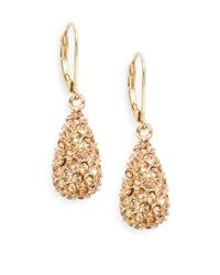 Saks Fifth Avenue | Metallic Pavé Teardrop Earrings/blush | Lyst