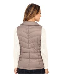MICHAEL Michael Kors | Brown Stand Collar Packable Vest | Lyst