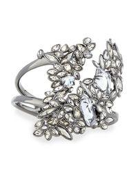 Alexis Bittar - Metallic Asymmetric Hinge Bracelet W/ Rhinestones - Lyst