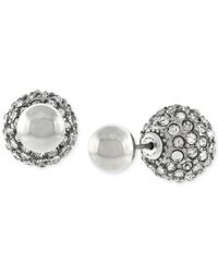 BCBGeneration | Metallic Pavé Front And Back Ball Earrings | Lyst