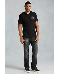 True Religion | Black Hand Picked Con Ganas Crew Neck Mens Tee for Men | Lyst