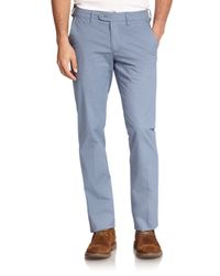 Saks Fifth Avenue - Blue Geo-printed Chinos for Men - Lyst