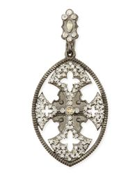 Armenta | Metallic Maltese Cross Enhancer With Sapphires & Diamonds for Men | Lyst