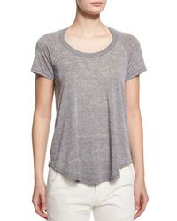 Étoile Isabel Marant - Gray Diego Heathered Short-sleeve Tee - Lyst