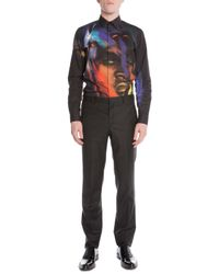 Givenchy - Black Stretch-wool Suit Trousers for Men - Lyst