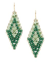 Kenneth Cole | Green Woven Drop Earrings | Lyst