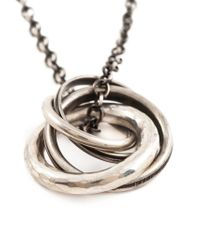 Werkstatt:münchen | Metallic Four Ring Necklace for Men | Lyst