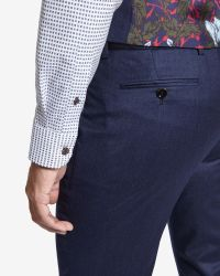 Ted Baker | Blue Deluxe Wool Trousers for Men | Lyst