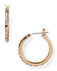 T Tahari - Metallic Classic Hoop Earrings - Lyst