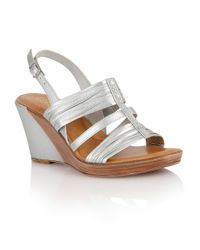 Lotus | Metallic Chilivani Wedge Sandals | Lyst