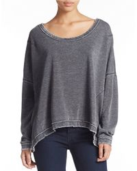 Free People | Black Oversized Knit Sweatshirt | Lyst