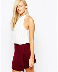 Fashion Union - Natural Turtle Neck Halter Top - Lyst