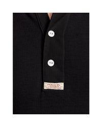 Polo Ralph Lauren - Black Cotton Henley Shirt for Men - Lyst