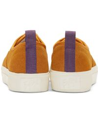 Eytys | Yellow Camel Suede Mother Sneakers for Men | Lyst