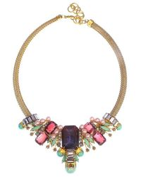 Elizabeth Cole | Metallic Liv Necklace | Lyst