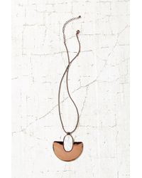 Urban Outfitters - Metallic Shielded Sun Stone Pendant Necklace - Lyst