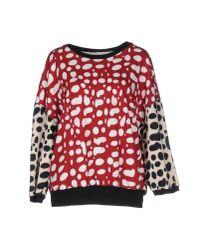 Pinko | Red Sweatshirt | Lyst