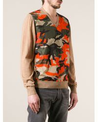 DSquared² - Brown Camouflage Print Sweater for Men - Lyst
