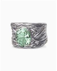 Effy | Metallic Balissima Sterling Silver Green Amethyst Ring | Lyst