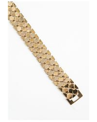 Missguided | Metallic Elettra Chain Bracelet Gold | Lyst