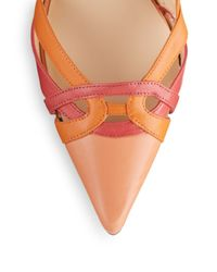 Ivanka Trump - Orange Ivonne D'Orsay Leather Pumps - Lyst