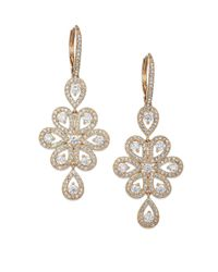 Adriana Orsini | Metallic Teardrop Flower Earrings | Lyst
