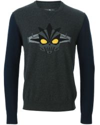 Hydrogen - Gray Embroidered Knit Sweater for Men - Lyst