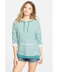 Volcom - Green 'lived In' Stripe Hoodie - Lyst
