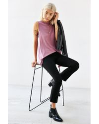 Truly Madly Deeply - Purple Cowl Back Tank Top - Lyst