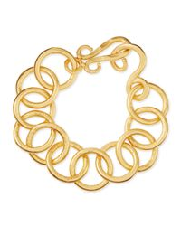 Stephanie Kantis | Metallic 24k Gold-plated Bronze Classic Link Bracelet | Lyst