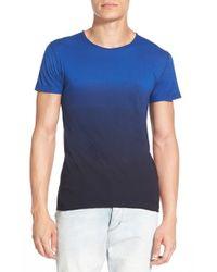 Alexander Simai - Blue Elongated Two Color Dip Dye T-shirt for Men - Lyst
