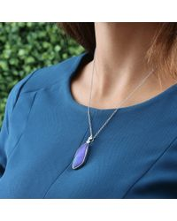 Katherine Jetter - Classic Blue Opal Pendant Necklace - Lyst