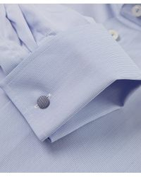 Eton of Sweden - Blue Contemporary Fit Micro Stripe Shirt for Men - Lyst