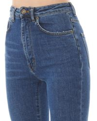 Saint Laurent - Blue Skinny High-Waisted Stretch-Denim Jeans - Lyst