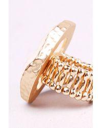 AKIRA - White Crystal Geode Ring - Lyst