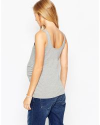 ASOS | Gray Vest With Ruching | Lyst