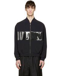 Calvin Klein - Black Pvc Panel Bomber Jacket for Men - Lyst