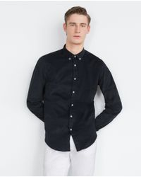 Zara | Black Corduroy Shirt for Men | Lyst