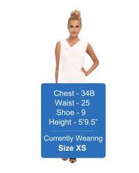 BCBGMAXAZRIA - White Malory Cowl Neck Side Cascade Dress - Lyst