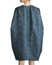 Zac Zac Posen | Blue Katelyn 3/4-sleeve Cocoon Dress | Lyst