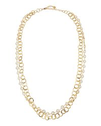 R.j. Graziano | Metallic Double-row Chain Necklace | Lyst